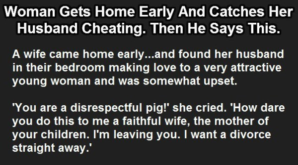 The costs A On Woman Husband Does Why Cheated Her pants simply