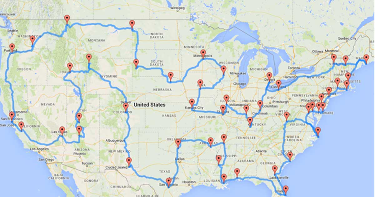 This Is The Best Road Trip Across America You Can Take, According To Science