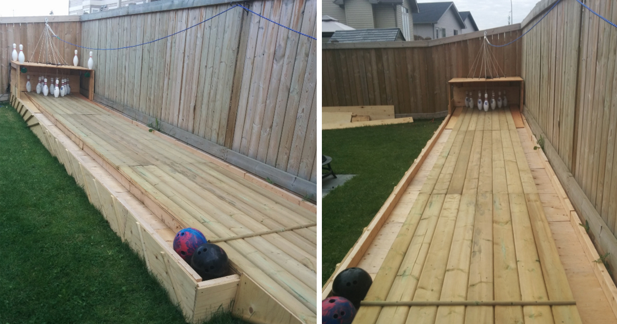 Man Builds Incredible Bowling Alley In His Backyard