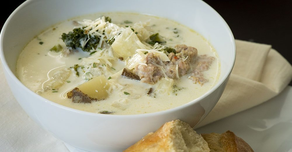 Make this lookalike zuppa toscana at home using a crock pot - Olive garden zuppa toscana crock pot ...