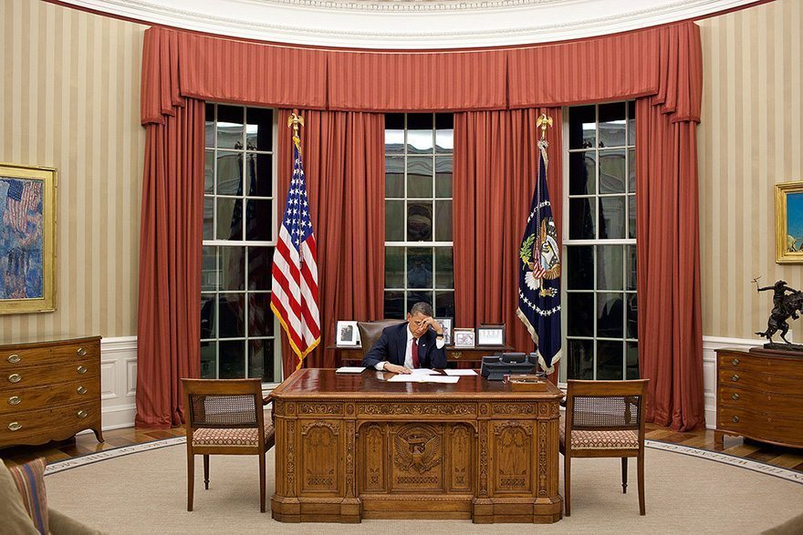 97-president-barack-obama-edits-his-remarks-in-the-oval-office-prior-to-making-a-televised-statement-detailing-the-mission-against-osama-bin-laden