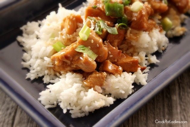 Place raw chicken in a Crock Pot. Add honey and sesame oil ...