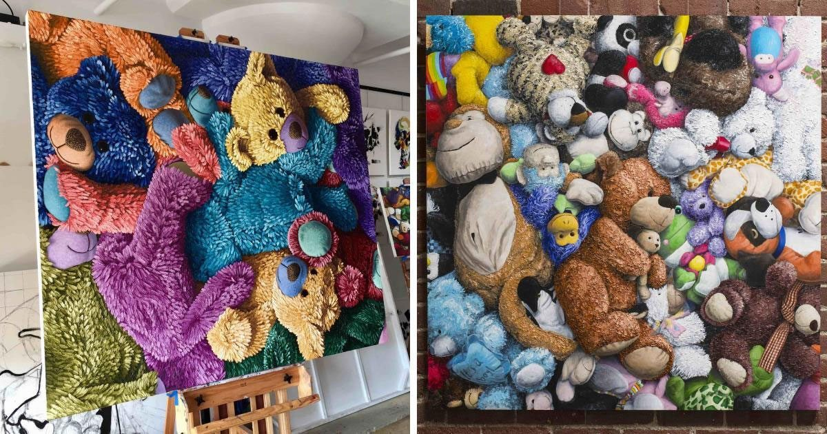 man_paints_stuffed_animals_featured