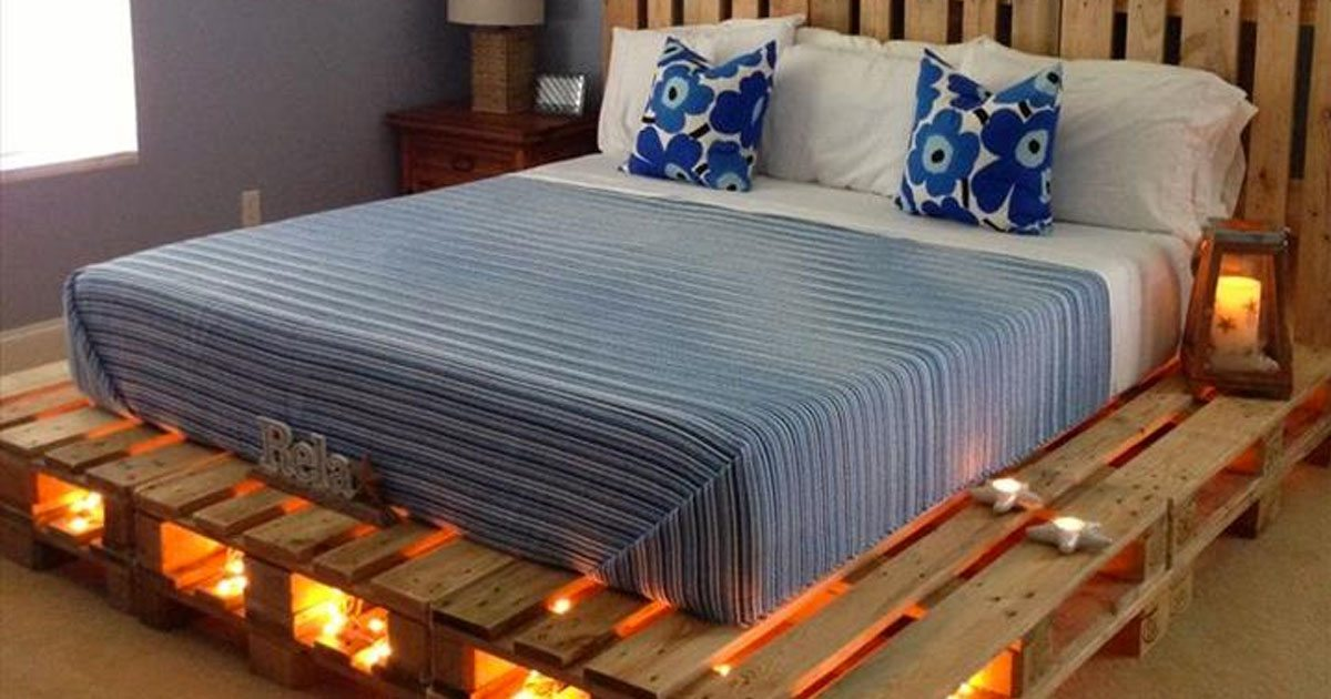 Why buy a bed when you can use pallets to make one here for Where can you buy beds