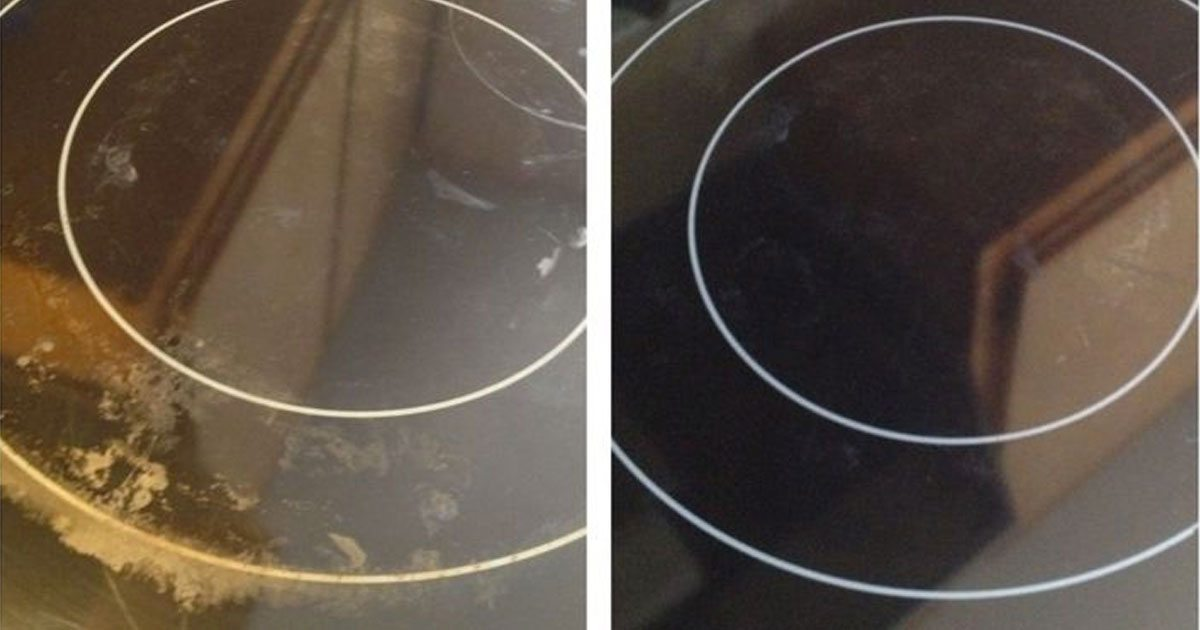 how to clean tough stains on glass stove top