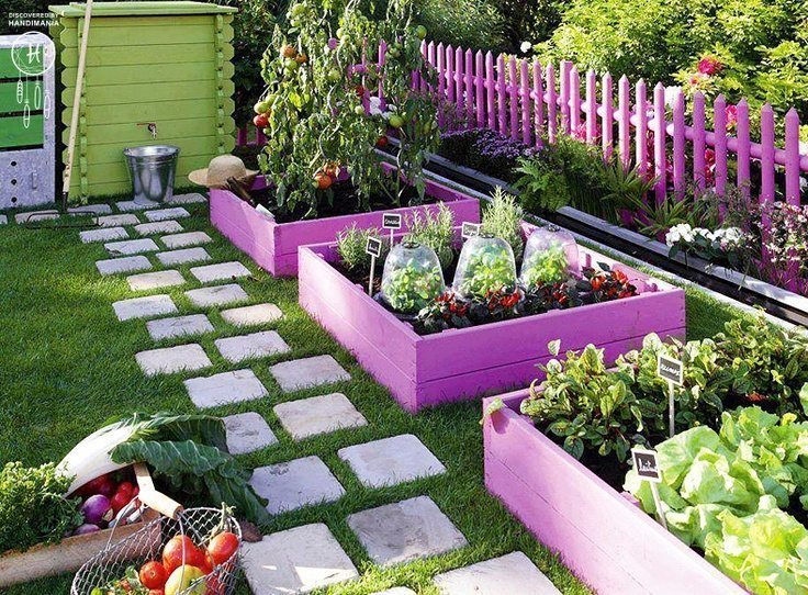 colorful-planter-and-fence