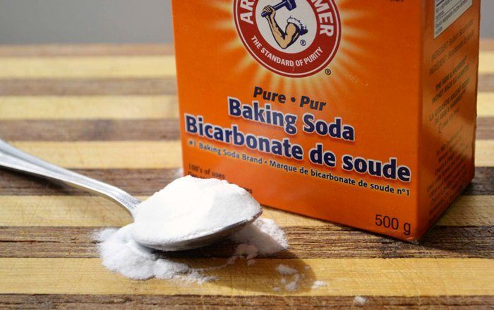 If you mix water and baking and soak your feet in it, here's the