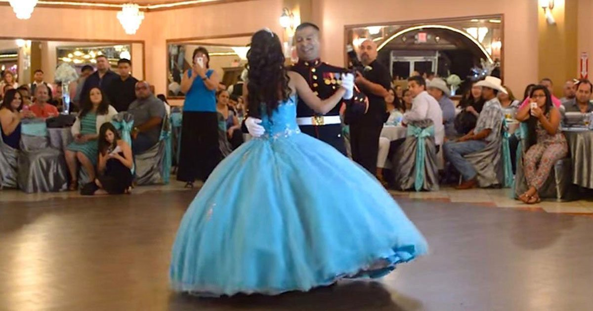 15 Anos Dresses From Mexico: Marine Dances With Daughter At Her Quinceañera