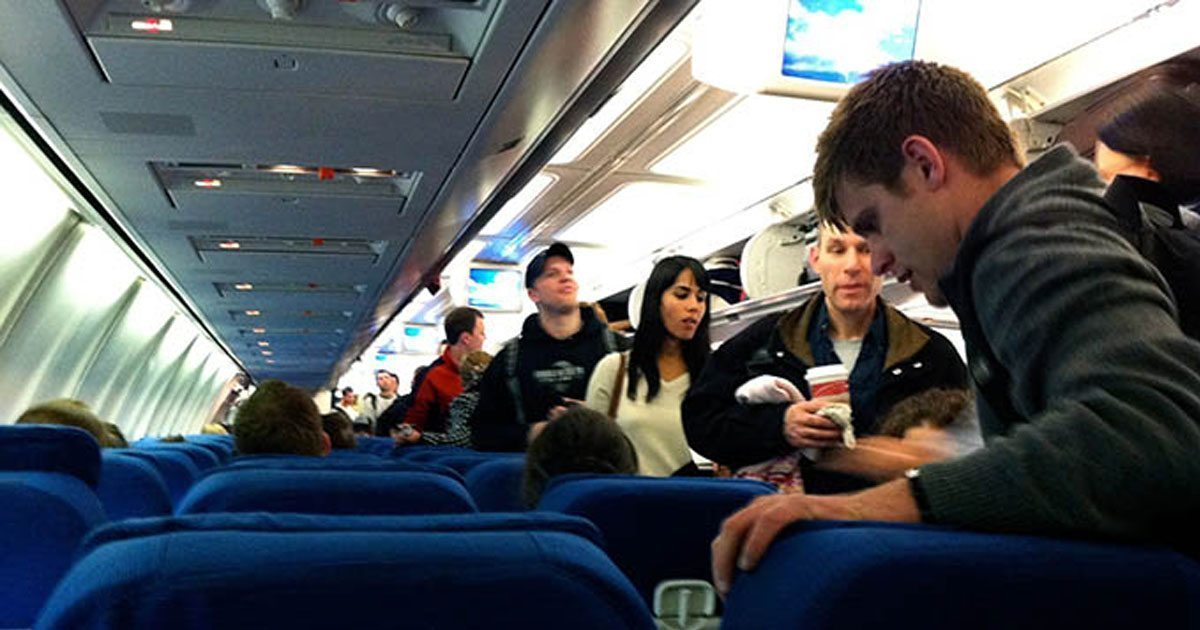 Female army officer boards plane. Then man in first class refuses to let her sit in coach