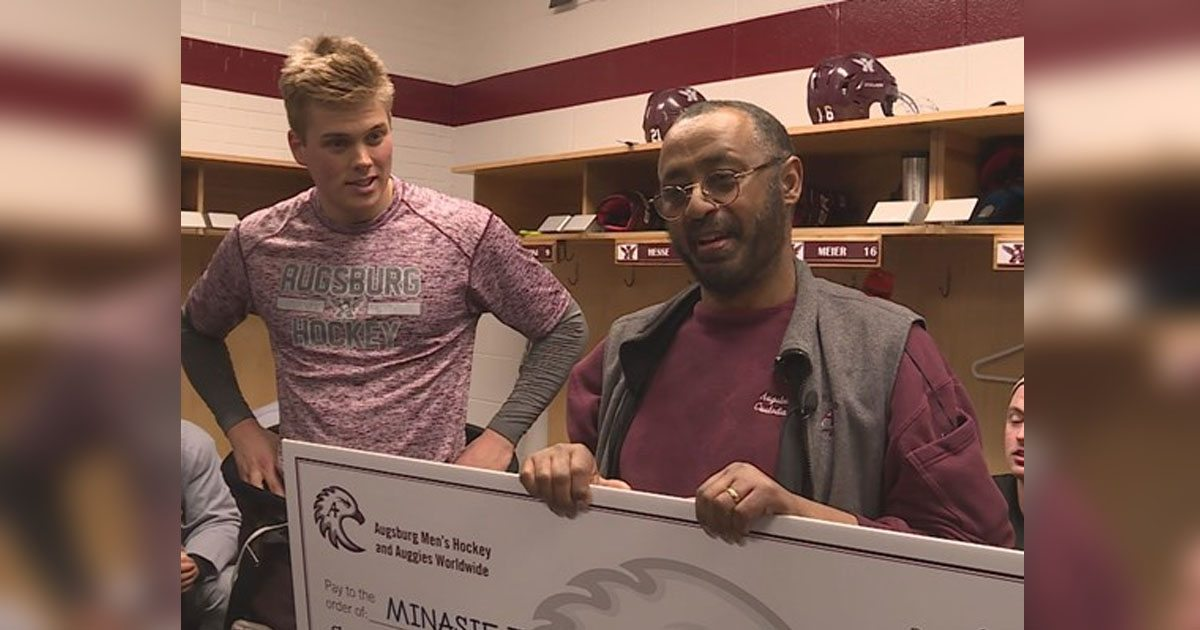 Hockey team learns that janitor's mother passed away, funds his first return home in 33 years