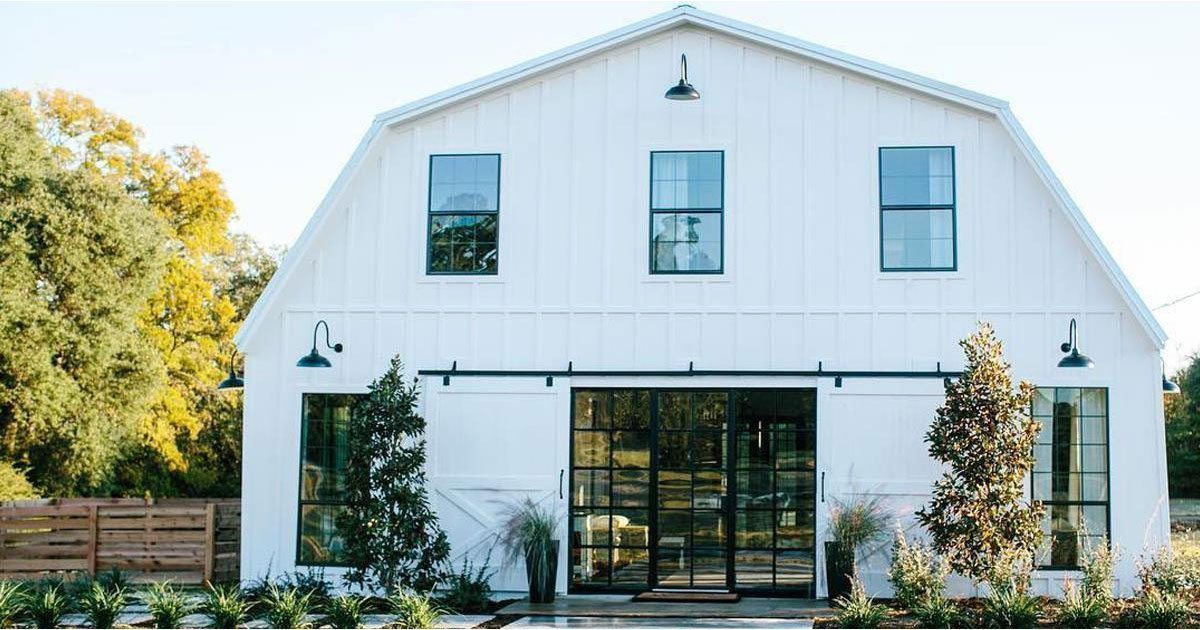 White Barn Looks Gorgeous On Outside But The Inside Really Puts It Over Top