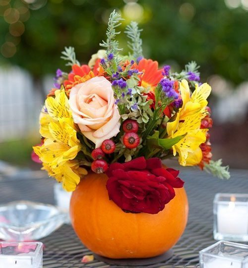 diy-pumpkin-vase-centerpiece