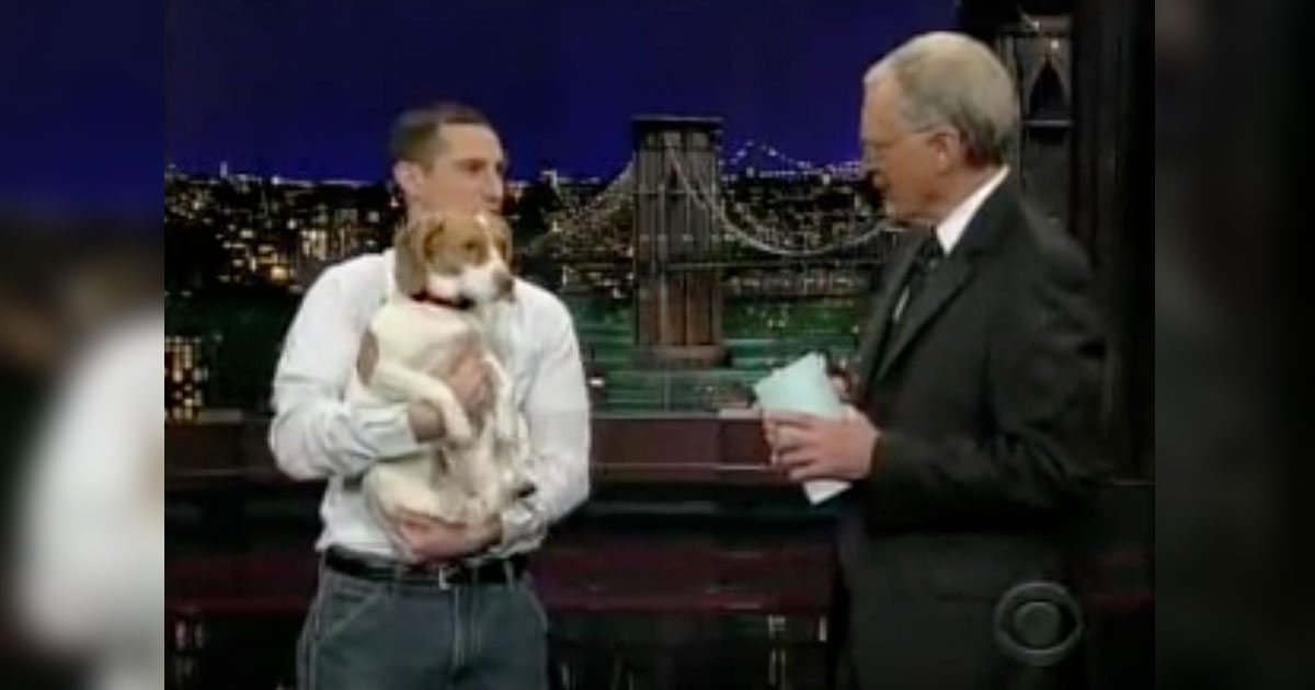 David Letterman Dog Playing Dead Video