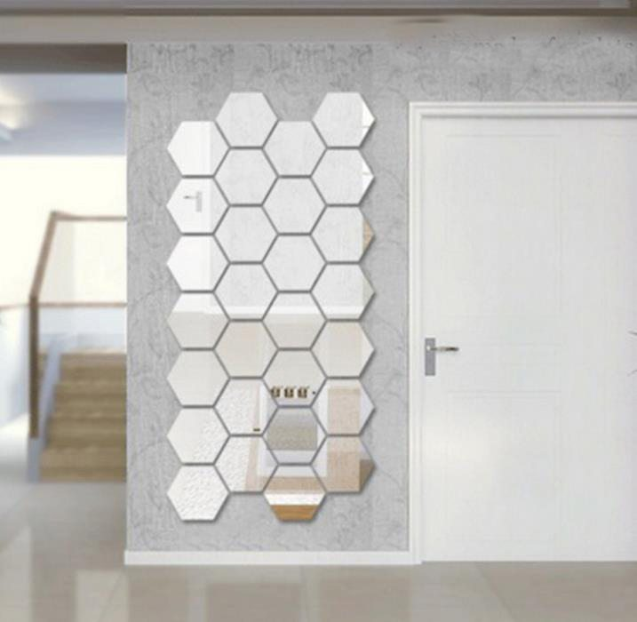 3d-diy-mirror-wall-sticker-7pcs-honeycomb-crystal-mirror-stickers-reflective-decal-for-wall-adhesive-wallpaper