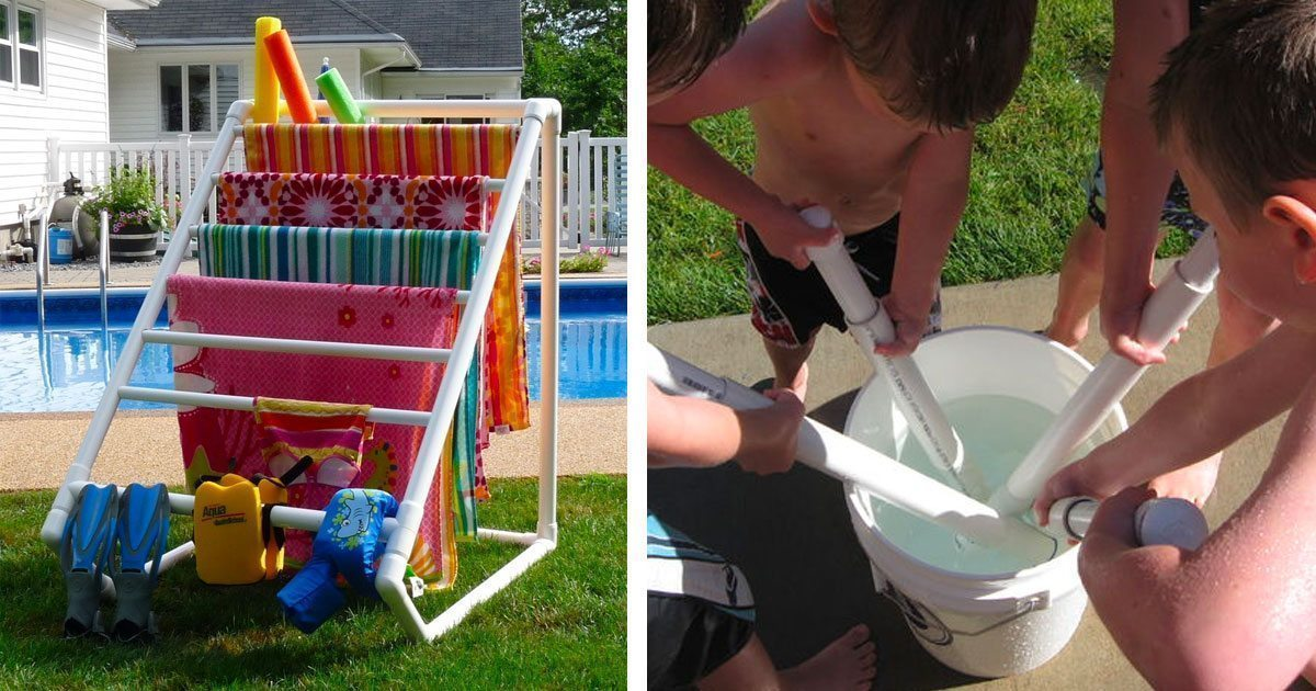 Outdoor summer pvc pipes for Pvc pipe garden projects