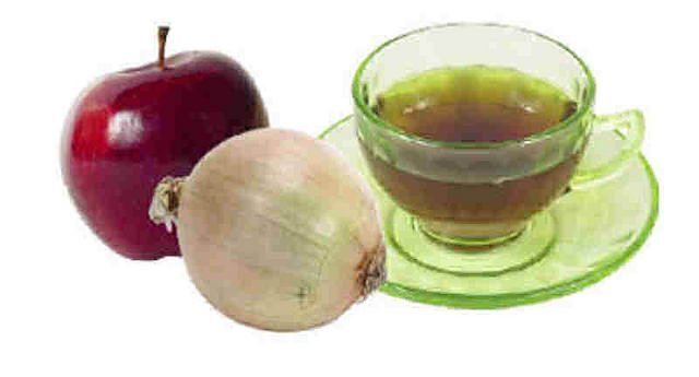 Onion juice and Vinegar