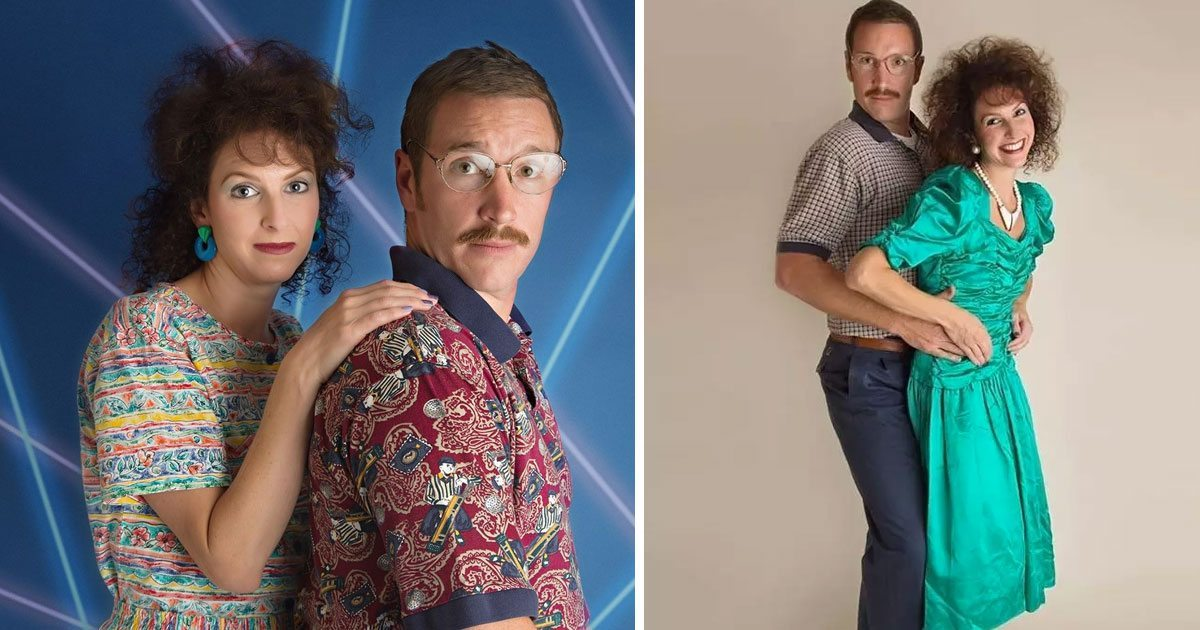 couple has an 80s theme anniversary photoshoot and the result is epic
