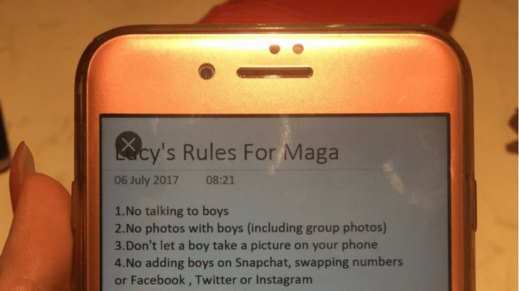 Man Sends New Girlfriend Upsetting List Of 'Rules' For When She Goes