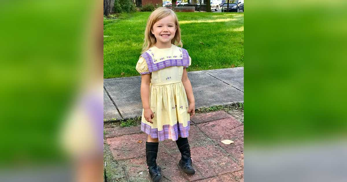 4-Year-Old Wears 67 Year Old Dress To First Day Of Class