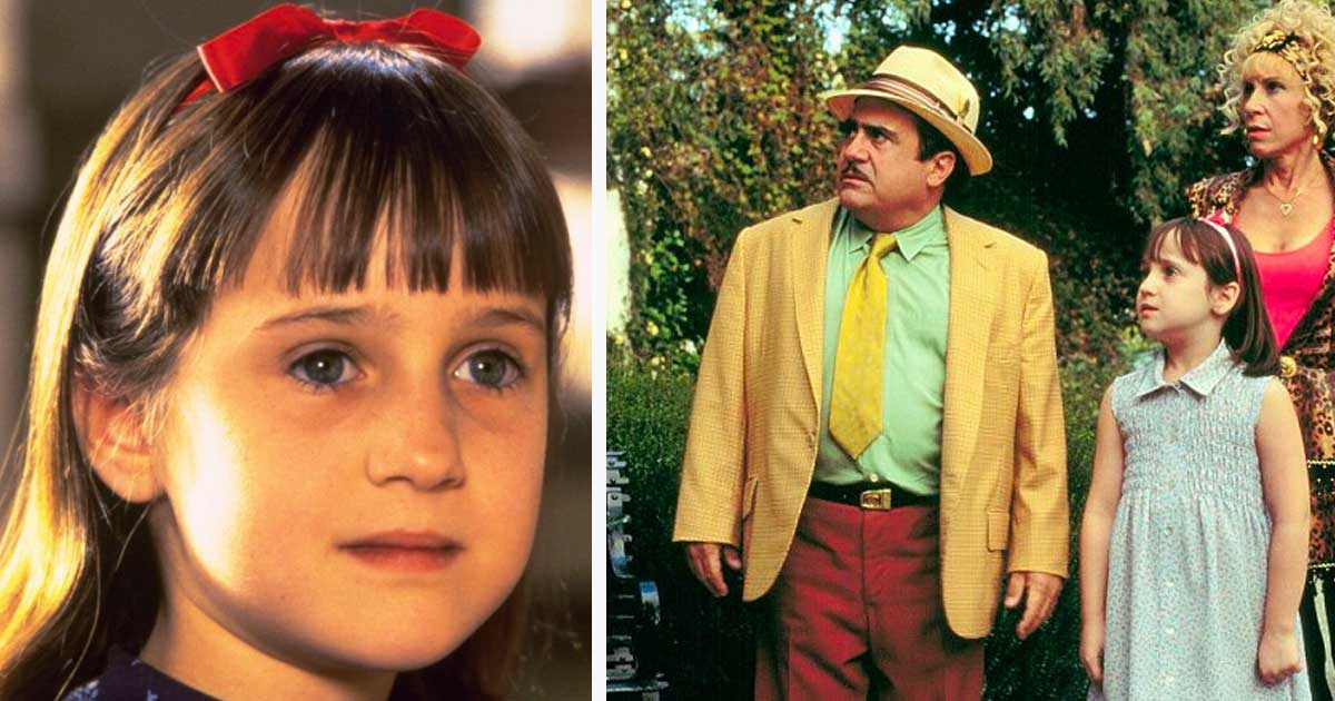 matilda actress thanks danny devito and rhea perlman for
