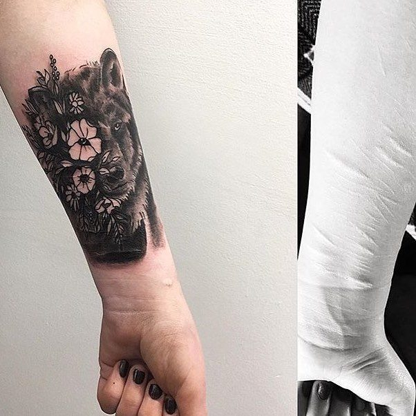 Tattoo artist covers self harm scars for Tattoos over self harm scars pictures