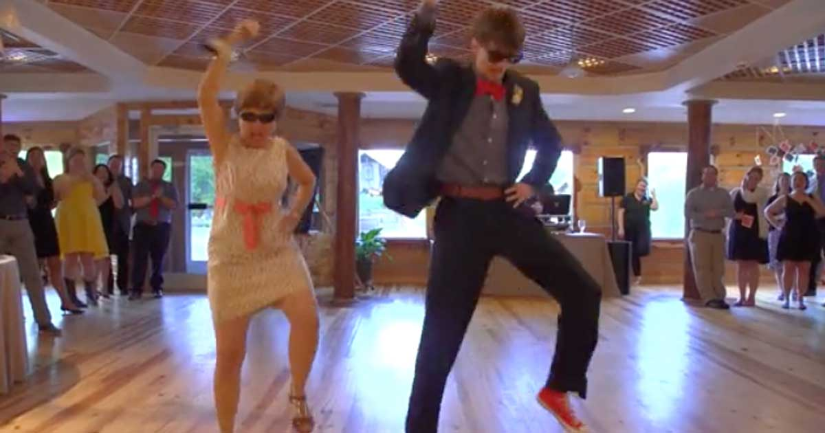 Mother And Son Perform Wedding Dance Medley