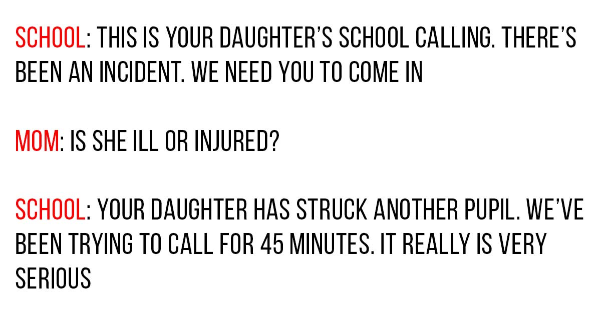 Mom's Unexpected Reply When School Says That Daughter Hit A Student Is Winning The Internet