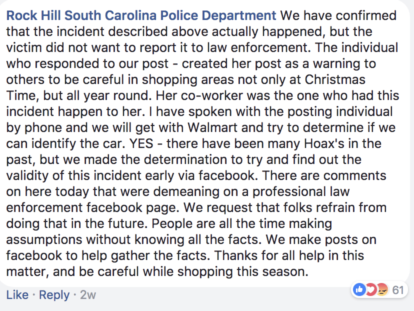Source: Rock Hill South Carolina Police Department