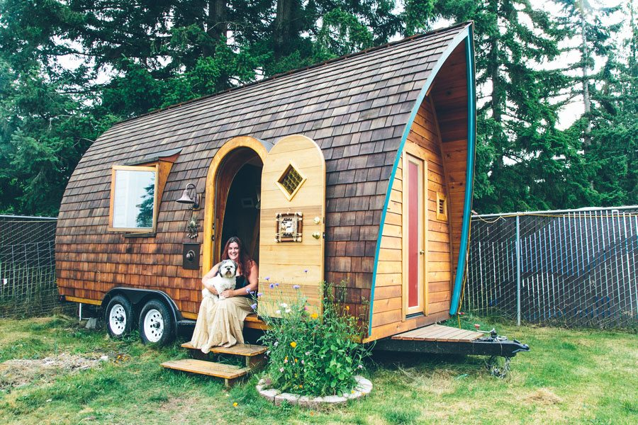 Tiny Home Is Shaped Like A Fortune Cookie — Step Inside To Reveal