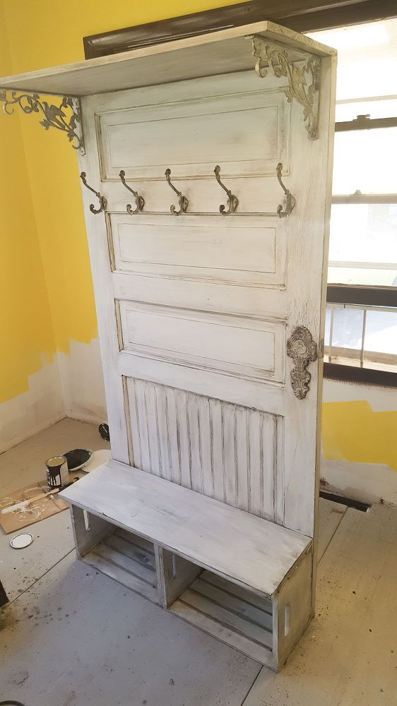 Pinterest Source Pinterest & Dad Buys Old Door For $10 Transforms It Into A Gorgeous Piece For ...