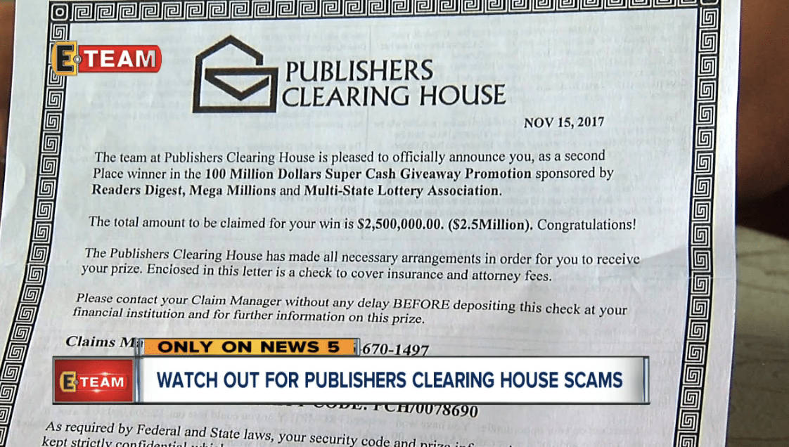 Publishers Clearing House Payments