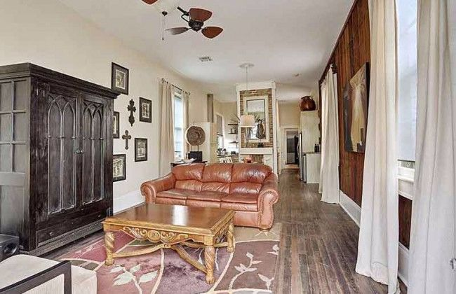 Shotgun House Is Oozing With History The Living Room S Main Feature Steals The Show