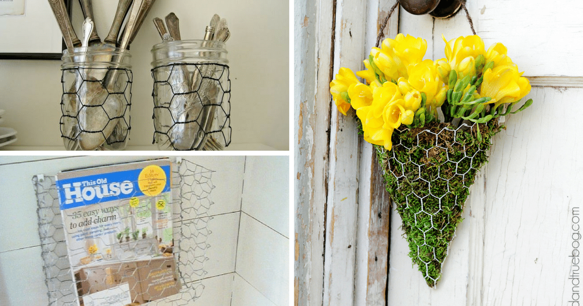 10 DIY Uses For Chicken Wire