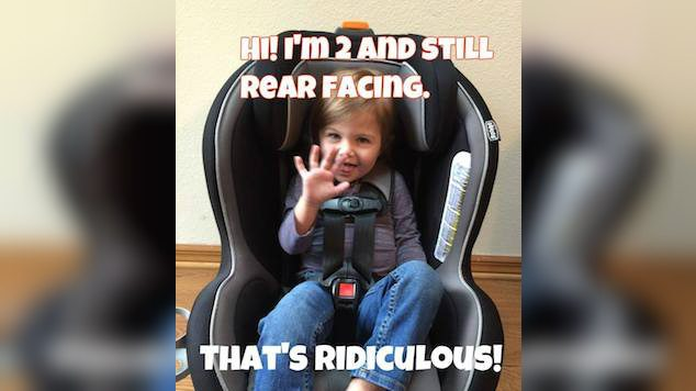 Clinic Claims Toddlers Need to Stay In Rear-Facing Car Seats