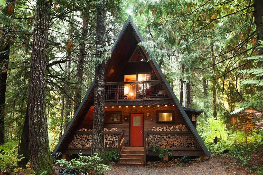 Do It Yourself Home Design: Adorable A-Frame Cabin In Washington State