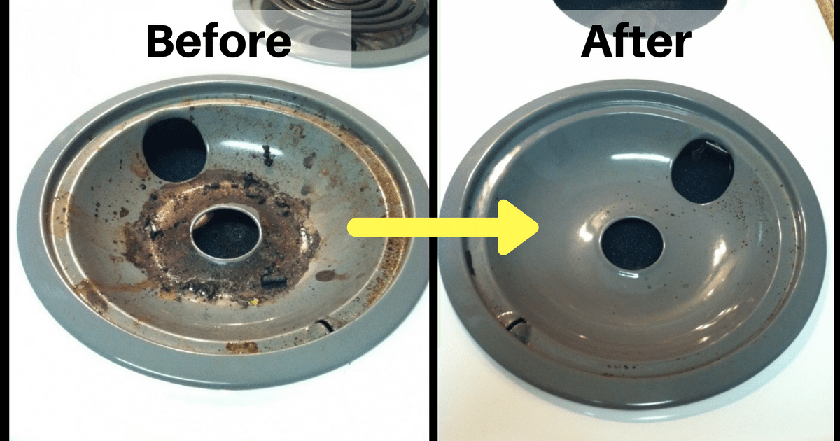 How to clean electric stove drip pans with baking soda