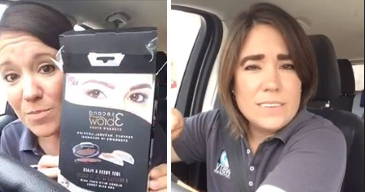 Reporter Gives Hilarious Demo For 3 Second Brows