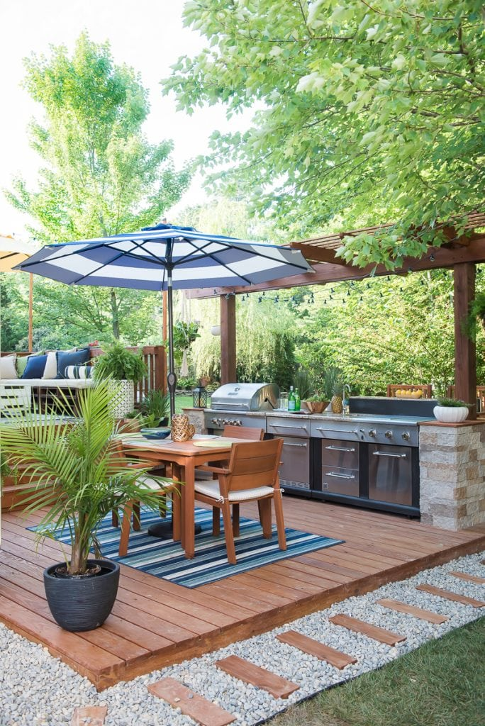 1 diy outdoor deck kitchen - Diy Outdoor Kitchen