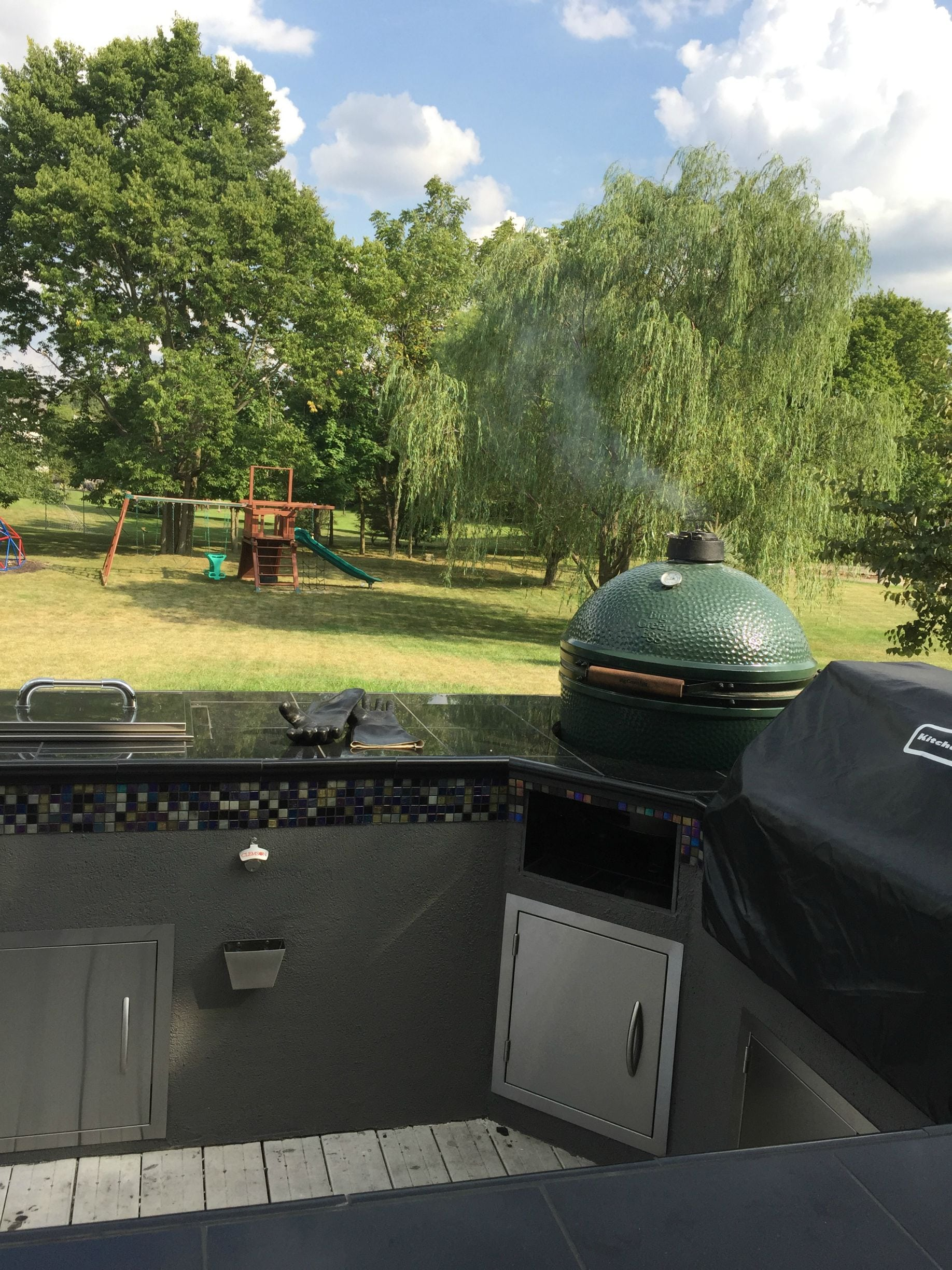 two grill patio