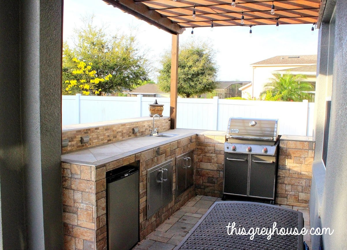 #14 DIY Tiled Outdoor Kitchen