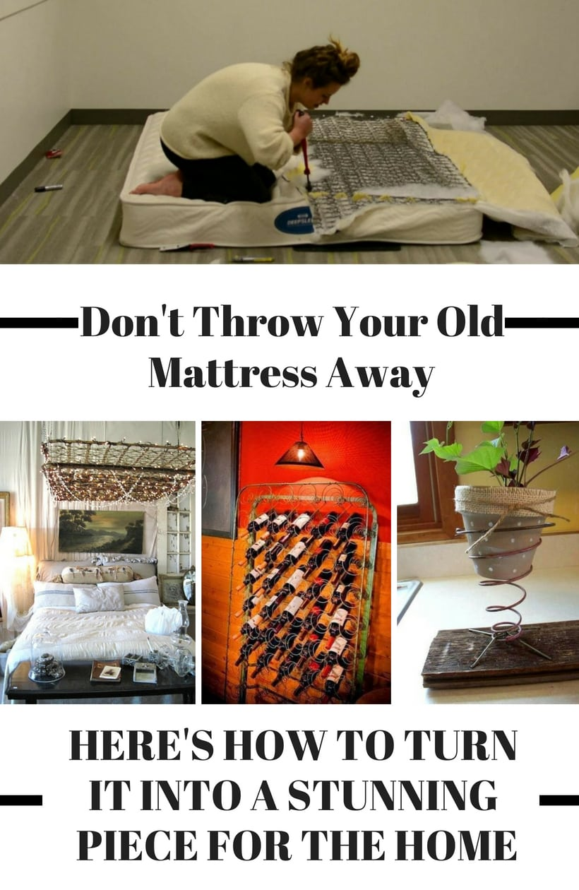40 Ways To Upcycle An Old Mattress