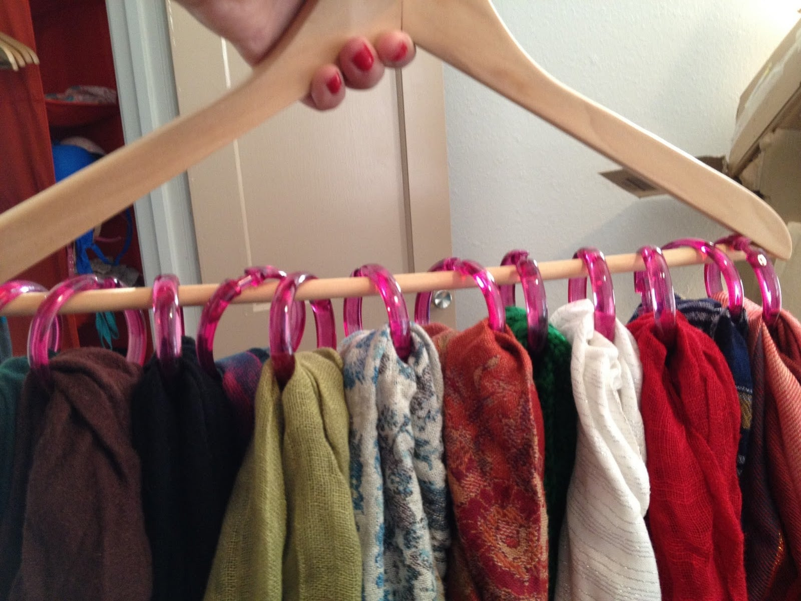 Basic Scarf Organizer For The Closet