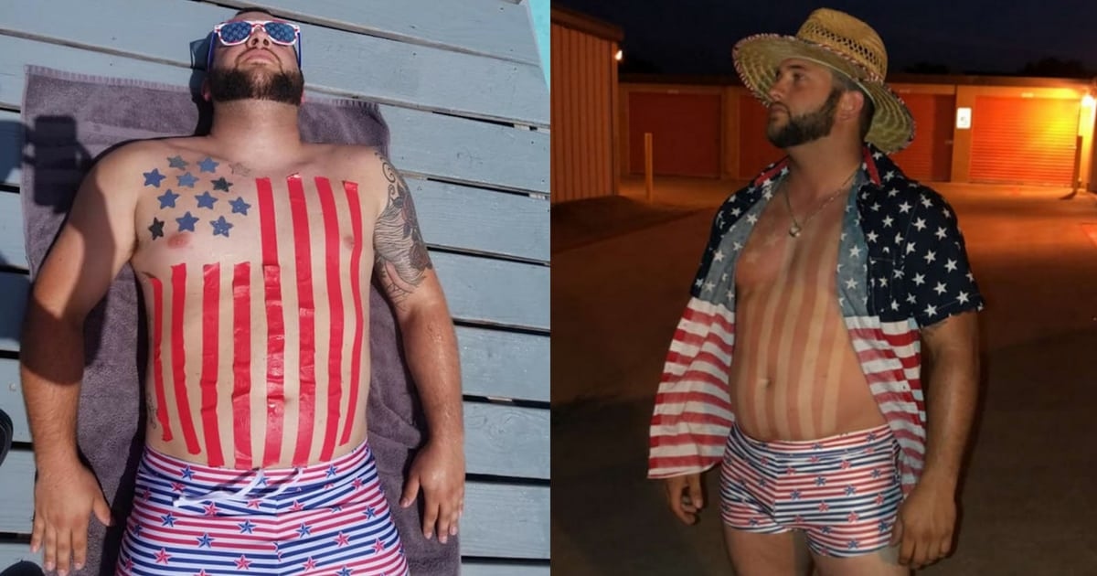 guy-turns-himself-into-the-american-flag-for-fourth-of-july