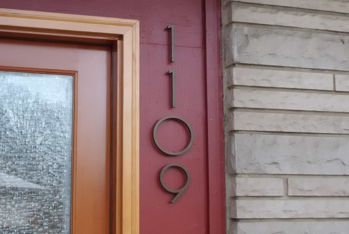 House Number Design Ideas: 40 Low-Cost Ways To Instantly Boost Your Home's Curb Appeal