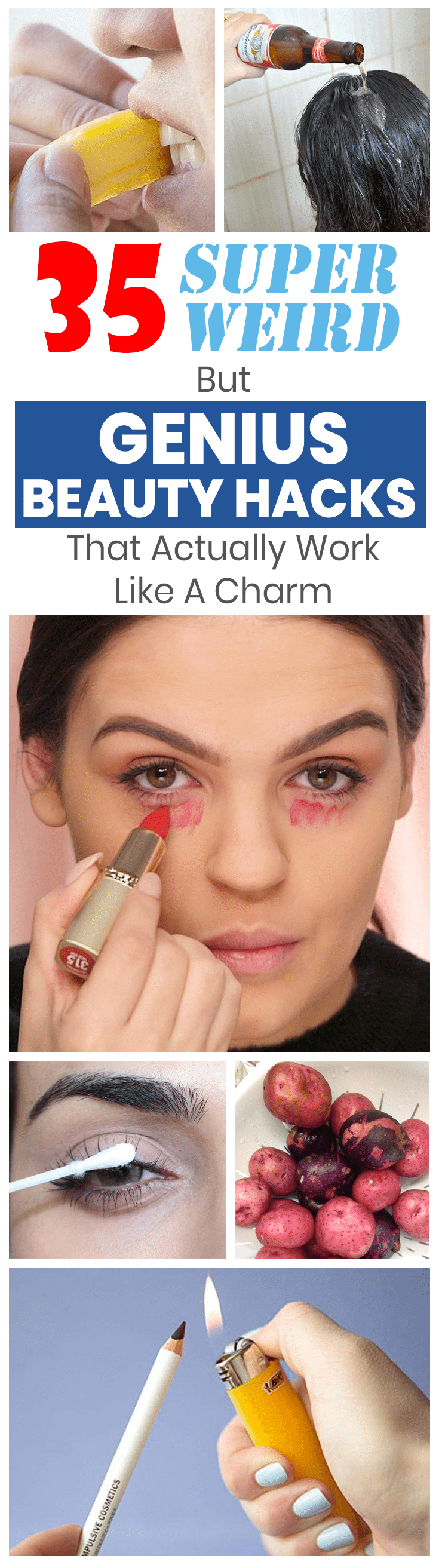 20 Unconventional Beauty Hacks Found at Home