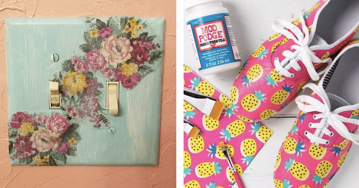 10 Amazing Decoupage Projects You Can Do Using Mod Podge