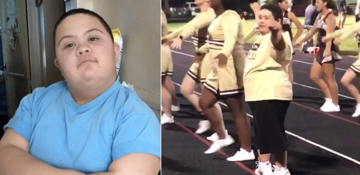 https://rumble.com/v6gxmj-downs-syndrome-cheerleader-barred-from-squad-because-he-didnt-fit-with-the-.html