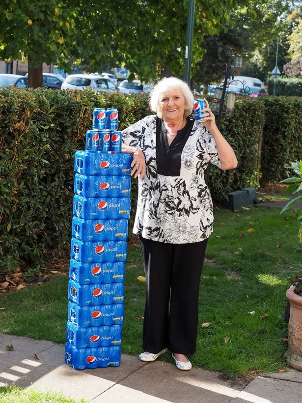 stack of Pepsi