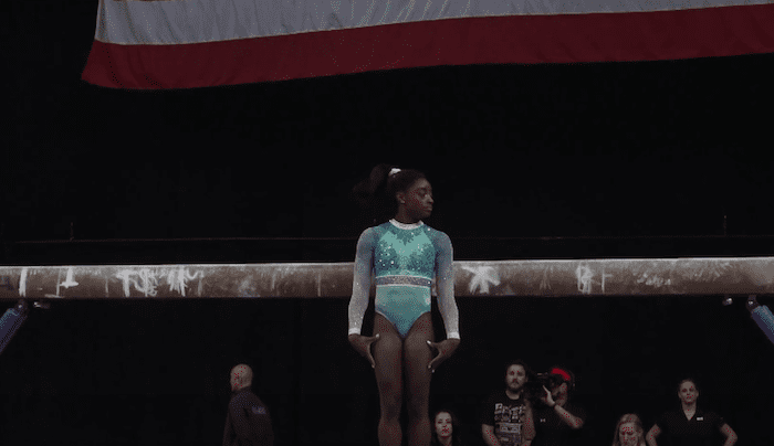 Simone Biles Balance Beam Routine At 2018 National