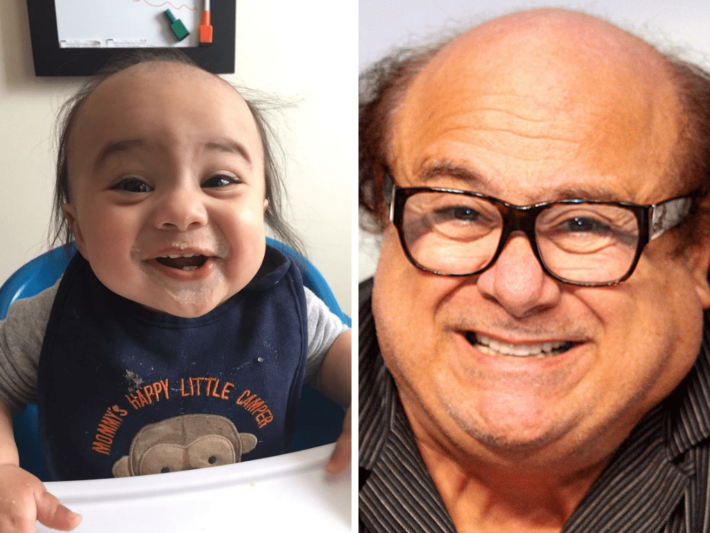 Celebrity baby photos of themselves